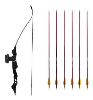 Arco E Flecha Rb-001 Competição + 6 Flechas Avalon Alumínio