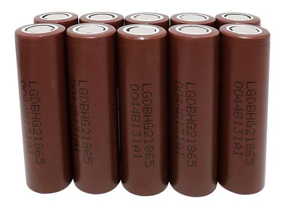 10 Baterias Lg Hg2 18650 3000mah 20a Chocolate Vaper Genuína