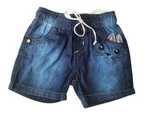 Jeans Short Menina Roupa Infantil