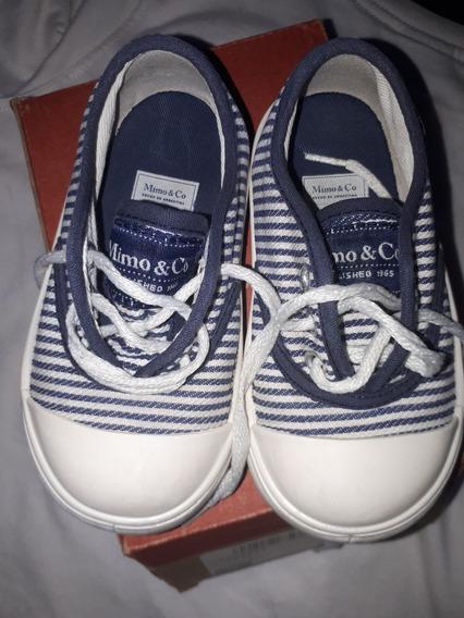 Zapatillas Mimo Rayadas Azulino