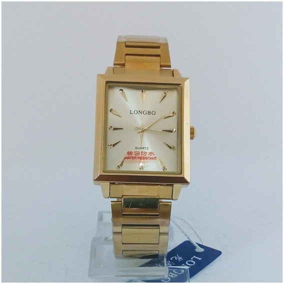 Relógio Masculino Longbo Quartz Original Quadrado Luxo Vip