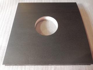 5 Fundas De Carton Negro Disco De Vinyl 12 Pulgadas