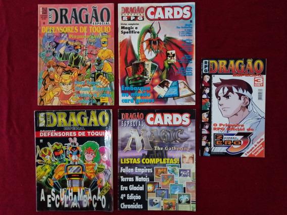 Revistas Rpg Dragão Brasil Especial (ed. 1, 2, 3, 4 E 7)