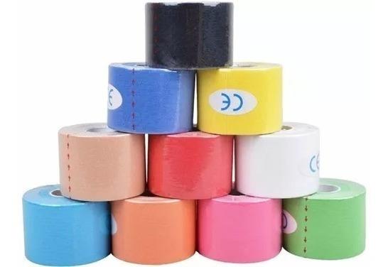 10 Kinesio Fita Tape Bandagem 5m Por 5 Cm Você Escolhe A Cor