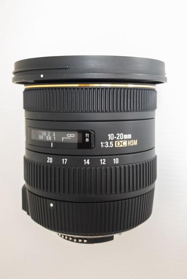 Lente Sigma 10-20mm F/3-5 Ex Dc Hsm Zoom Autofoco Nikon
