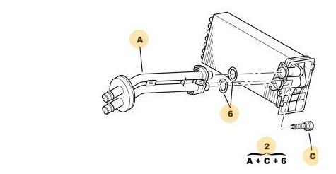 Caño Doble Radiador Calefacción Peugeot 307 1.6 Hdi