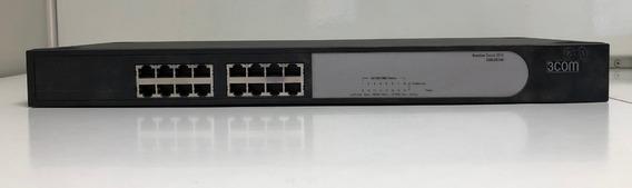 Switch 3com 24 Puertos - Baseline 2816 16p No Admin Usado