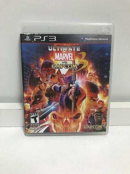 Jogo Ps3 - Ultimate Marvel Vs Capcom 3 - Midia Fisica
