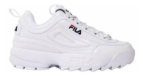 Tenis Fila Disruptor 2 Premium Patent Blanco 5fm00542-125