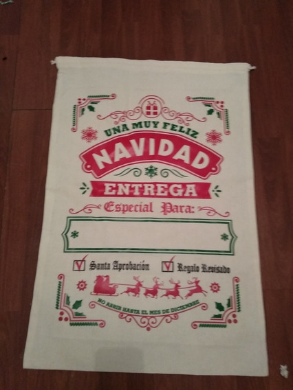 Saco Grande Reyes Y Santa Persolalizado 50x87 Cm