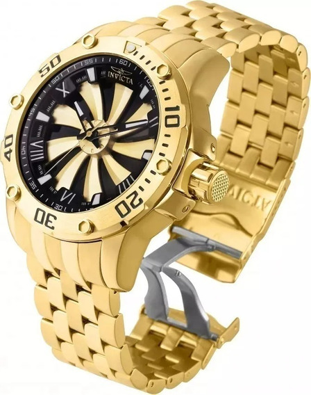 Relógio Nj60 Bv Ouro Linha Speedway Automatico Preto Oferta