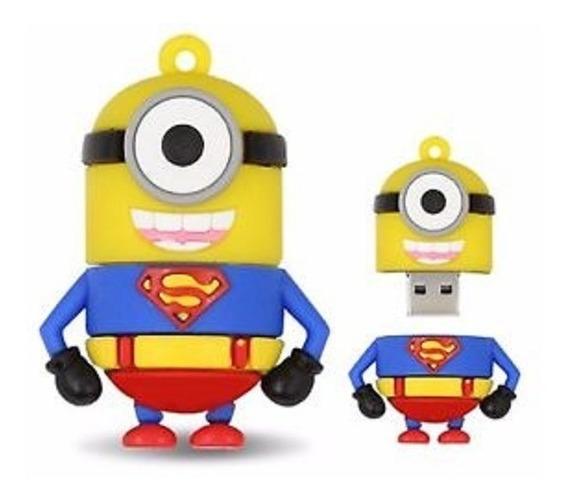 Pen Drive Minions Superman 8gb Super Homem Pronta Entrega