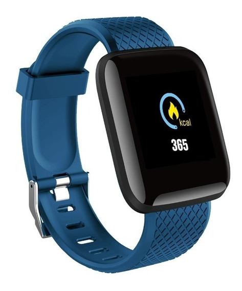 Relogio Inteligente Smartwatch D13 Azul Pedometro