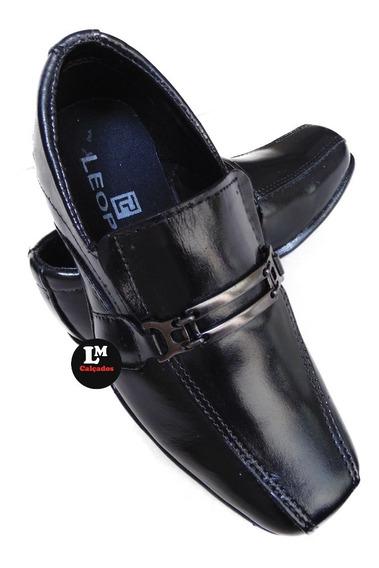 Sapato Social Infantil100% Em Couro Ref 600 Preço Imperdível