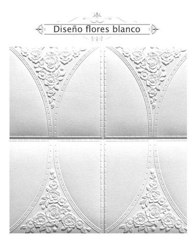 Imagen 1 de 5 de Tapiz 3d Diseño Flores Blanco En Existencia