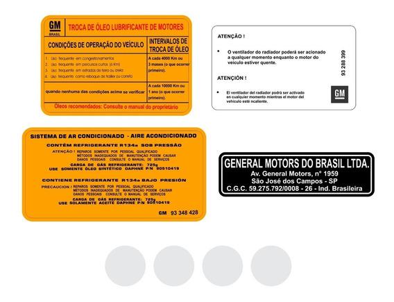 Kit Adesivos Etiquetas Motor Chevrolet Agile Astra Vectra
