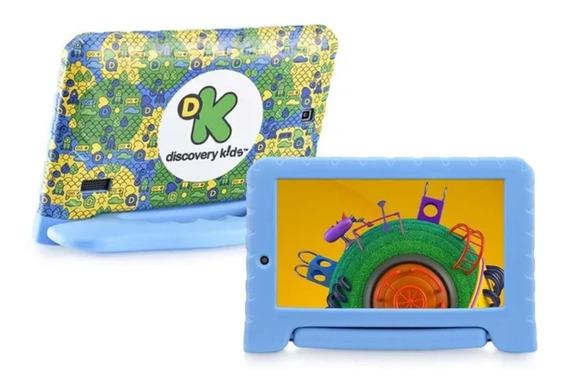 Tablet Para Criança Discovery Kids Azul Quad Core Cam Wifi