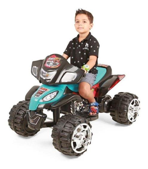 Quadriciclo Elétrico Infantil Fort Play 12v Azul - Xplast