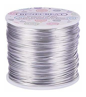 Benecreat 12 17 Alambre De Aluminio De Calibre 18 Calibre 18