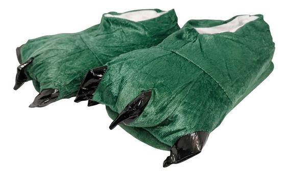 Pantufla Garra Color Verde Pijama Calientitas Envío Gratis
