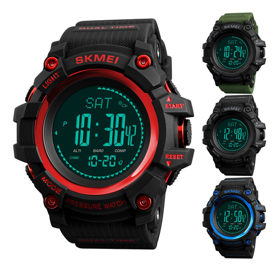 Skmei Masculino Impermeável Relógio Esportivo Barômetro A
