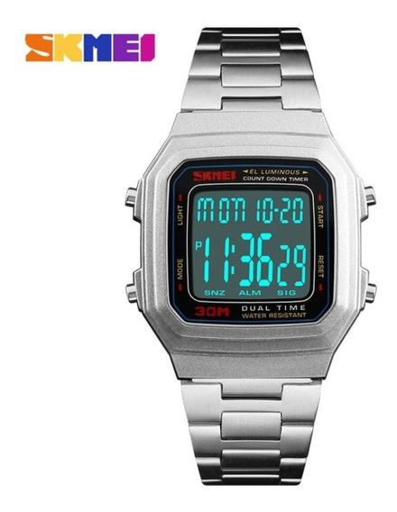 Relógio Unissex Skmei Digital 1337 Prata