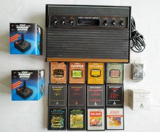 Consola Atari 2600 Completa Con 12 Juegos