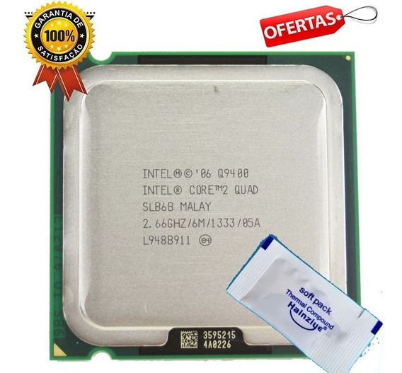Original Intel 775 Core 2 Quad Q9400 2,66ghz + Pasta Térmica