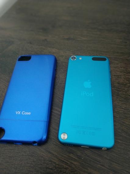 iPod Touch 5 16 Gb Azul - Com Câmera + Capa Vx Case