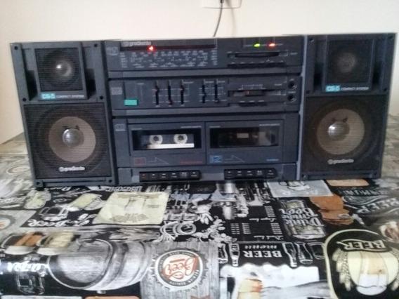 Rádio Gravador Boombox Gradiente Cs-5 - Funcionando 100%