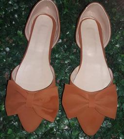Zapatos De Moño Tipo Flats De Punta Pico