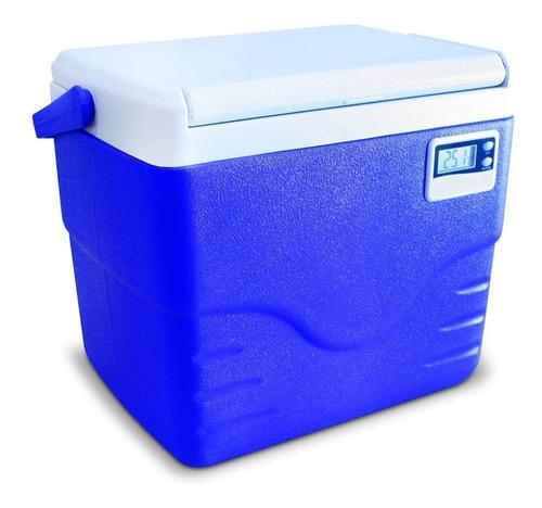 Imagem 1 de 3 de Caixa Térmica Com Termômetro 8,5 Litros - Coleman - Azul
