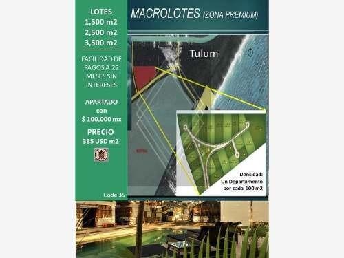 Terreno En Venta En Tulum Zona Premium - Macrolotes