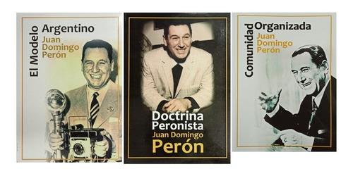 Pack 3 Libros De Peronismo Modelo Doctrina Comunidad