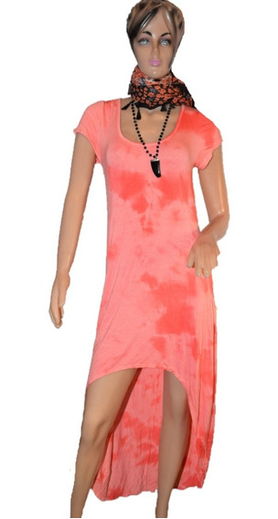 47 Street Vestido Naranja Con Estampado Batik
