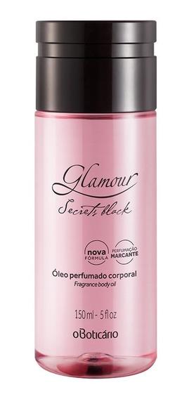 Glamour Óleo Perfumado Desodorante Corporal Secrets Black 15