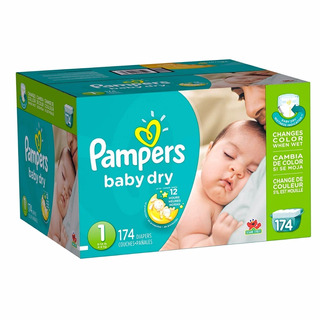 Pampers Pañales Baby Dry Med 1 174 Unidades