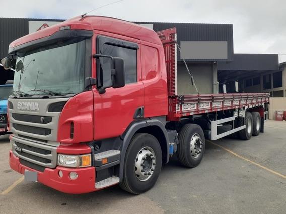 Scania P-310,ano:17,vermelho,bi-truck 8x2,carroceria,impecáv