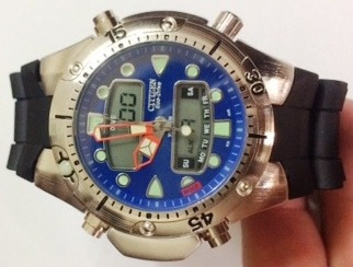Relogio Atlantis Tipo Jp1060 Aqualand Azul Borracha Citzen