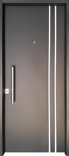 Puerta Doble Chapa Inyectada 80x200 C/barral Barmetal Bold