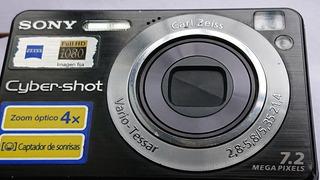 Camara Digital Sony Cybershot Lente Carl Zeiz De 7.2 Megas