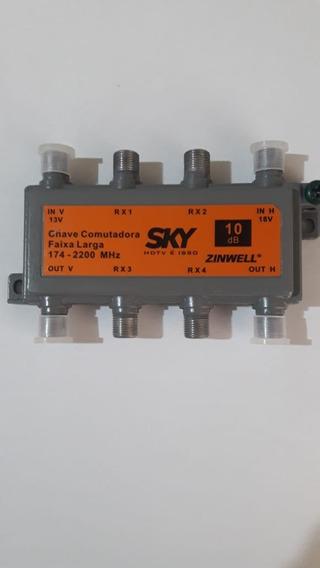 Chave Comutadora Multi-usuário Faixa Larga Smu 10db Zinwell