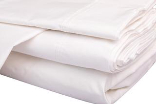 Juego Sabanas Individuales Blancas Lisas C/bordado 200 Hilos