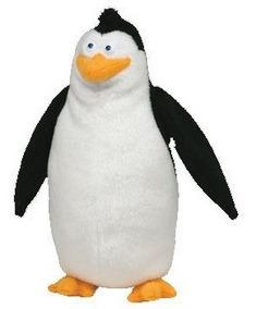 Pinguins De Madagascar Pelúcia Rico 18cms Da Ty!