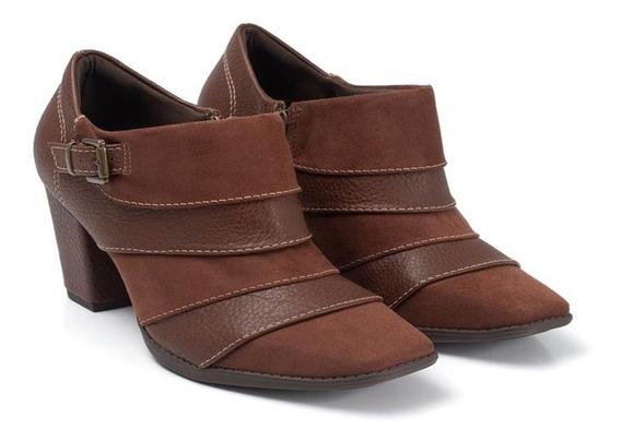 Sapato Oxford De Salto Feminino Piccadilly 372004 Marrom