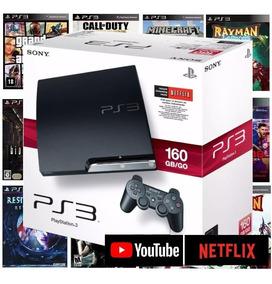 Ps3 Playstation 3 Bloqueado Super Slim Ou Slim 10 Jogos