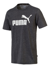 Camiseta Puma Ess+ Heather Masculina - Preto 852419-01