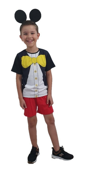 Pijama Fantasia Infantil Mickey Mouse Promoção