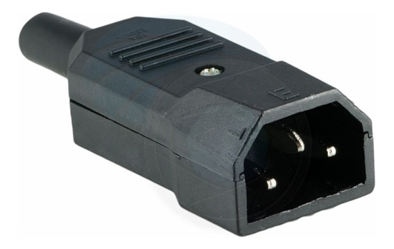 Conector Ficha Ups Macho 10a Iec 320 C14 O C13 Reforzado