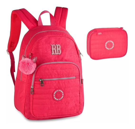 Kit Mochila Juvenil E Estojo Rb Rebecca Bonbon Notebook